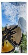 Financial Skyscraper Buildings In Charlotte North Carolina Usa Hand Towel