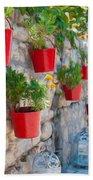Flower Pots 2 Bath Towel