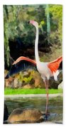 Greater Flamingos Bath Towel