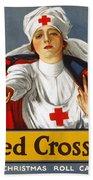 Red Cross Poster, 1917 Bath Towel