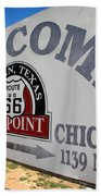 Route 66 - Midpoint Sign Bath Towel