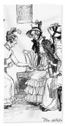 Scene From Pride And Prejudice By Jane Austen Bath Towel