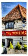 The Woodman Pub Bath Towel