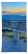 Top Of Mount Mitchell Before Sunset Bath Towel