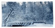 Winter White Forest Bath Towel