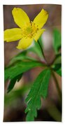 Yellow Wood Anemone Bath Towel