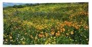 California Poppies Eschscholzia Bath Towel
