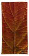 Dogwood Leaf Backlit Bath Towel