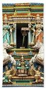 Hindu Temple With Indian Gods Kuala Lumpur Malaysia Bath Towel