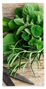 Kitchen Herbs Bath Towel