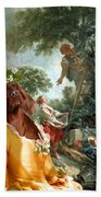 Irish Setter Art Canvas Print Bath Towel