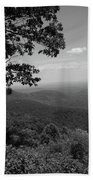 Blue Ridge Mountains - Virginia Bw Bath Towel