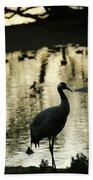 Common Cranes At Gallocanta Lagoon Bath Towel