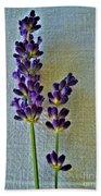 Lavender On Linen Bath Towel