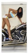 Models And Motorcycles Bath Towel
