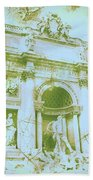 Trevi Fountain Landscape Bath Towel