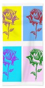 8 Warhol Roses By Punt Hand Towel