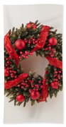 Advent Christmas Wreath  Bath Towel