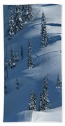 Backcountry Ski Traverse In Glacier Bath Towel