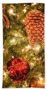 Christmas Tree Ornaments Bath Towel