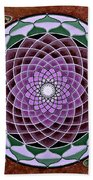 Cosmic Flower Mandala 6 Bath Towel