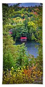 Fall Forest And Lake Hand Towel