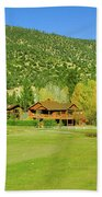 9-hole Golf Course In Autumn At Pine Bath Towel