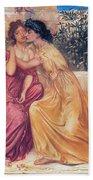 Sappho And Erinna In A Garden Bath Towel