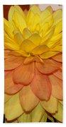 #928 D801 Dahlia Orange Yellow Pink Green Bath Towel