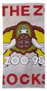 98.the Zoo Rocks Hand Towel