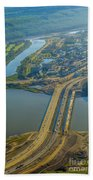 Fort Mcmurray From The Sky Bath Towel