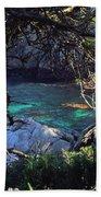 A Beautiful Cove At Point Lobos Bath Towel