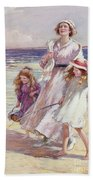 A Breezy Day At The Seaside Hand Towel by William Kay Blacklock