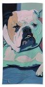 A Bulldog In Love Hand Towel