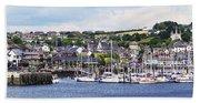 A Busy Harbour And Waterfrontkinsale Bath Towel