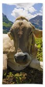 A Calf In The Mountains Bath Towel