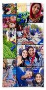 A Collage Of The Fresh Market In Kusadasi Turkey Bath Towel