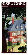 A Colonial Manor House Hand Towel