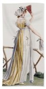 A Country Style Ladies Dress Bath Towel