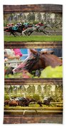 A Day At The Races Bath Towel