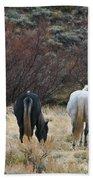 A Family Of Three - Wild Horses - Green Mountain - Wyoming Bath Towel