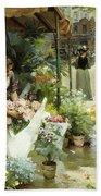 A Flower Market In Paris Bath Towel