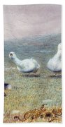 A Game Of Fox And Geese, 1868 Bath Towel