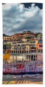 A Genesis Sunrise Over The Old City Bath Towel by Ronsho