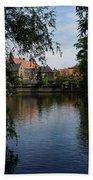 A Glimpse Through The Trees - Bruges Belgium Bath Towel