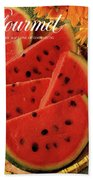 A Gourmet Cover Of Watermelon Sorbet Bath Towel