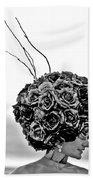 A Hat Of Roses Bath Towel