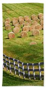 A Herd Of Hay Bales Bath Towel