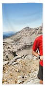 A Hiker Uses His Smartphone To Capture Hand Towel