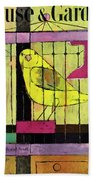 A House And Garden Cover Of A Bird In A Cage Hand Towel
